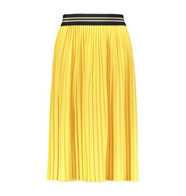 Like Flo girls jersey plisse skirt maxi Lemon