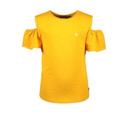 Like Flo girls jersey open shoulder top Sunflower