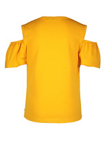 Like Flo girls jersey open shoulder top Sunflower