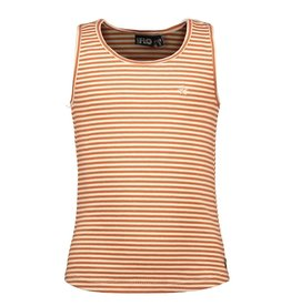 Like Flo girls YD stripe singlet Cognac stripe