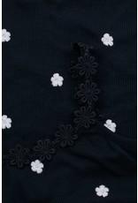 LOOXS 10sixteen rib singlet with daisy OXFORD BLUE