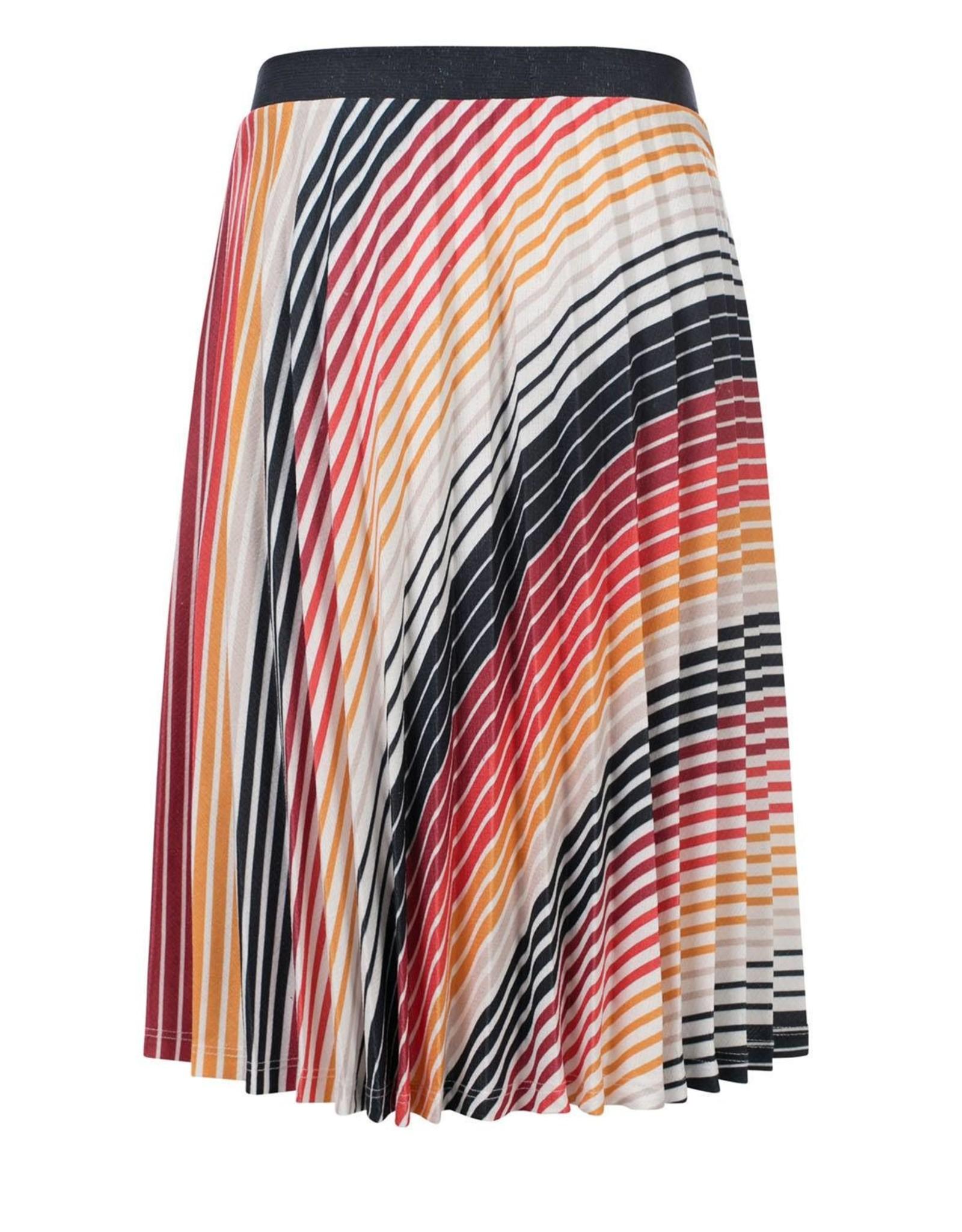 LOOXS 10sixteen pleated skirt GRADIENT STRIPE