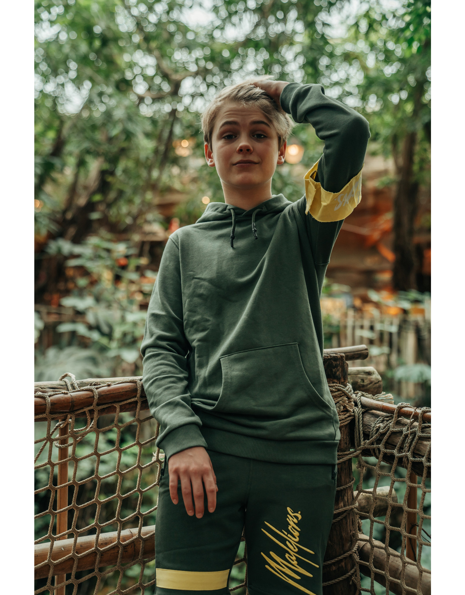 Malelions Junior Captain Hoodie Army - Yellow