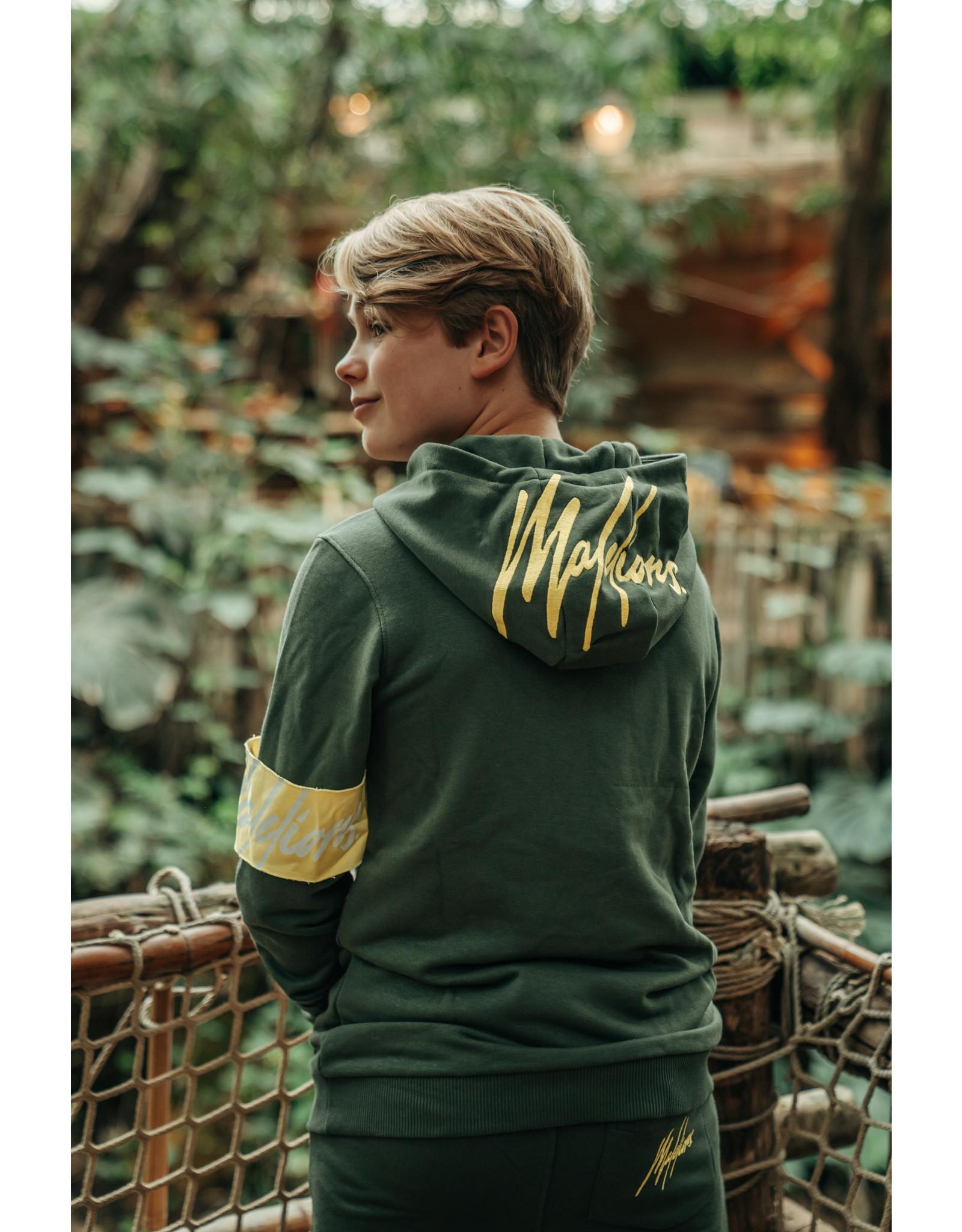 Malelions Junior Captain Hoodie Army - Yellow