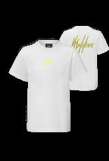 Malelions Junior Double Signature White - Yellow