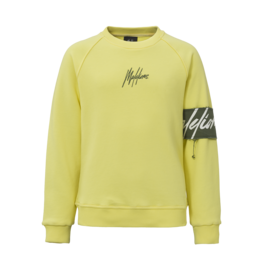 Malelions Junior Captain Crewneck Yellow - Army