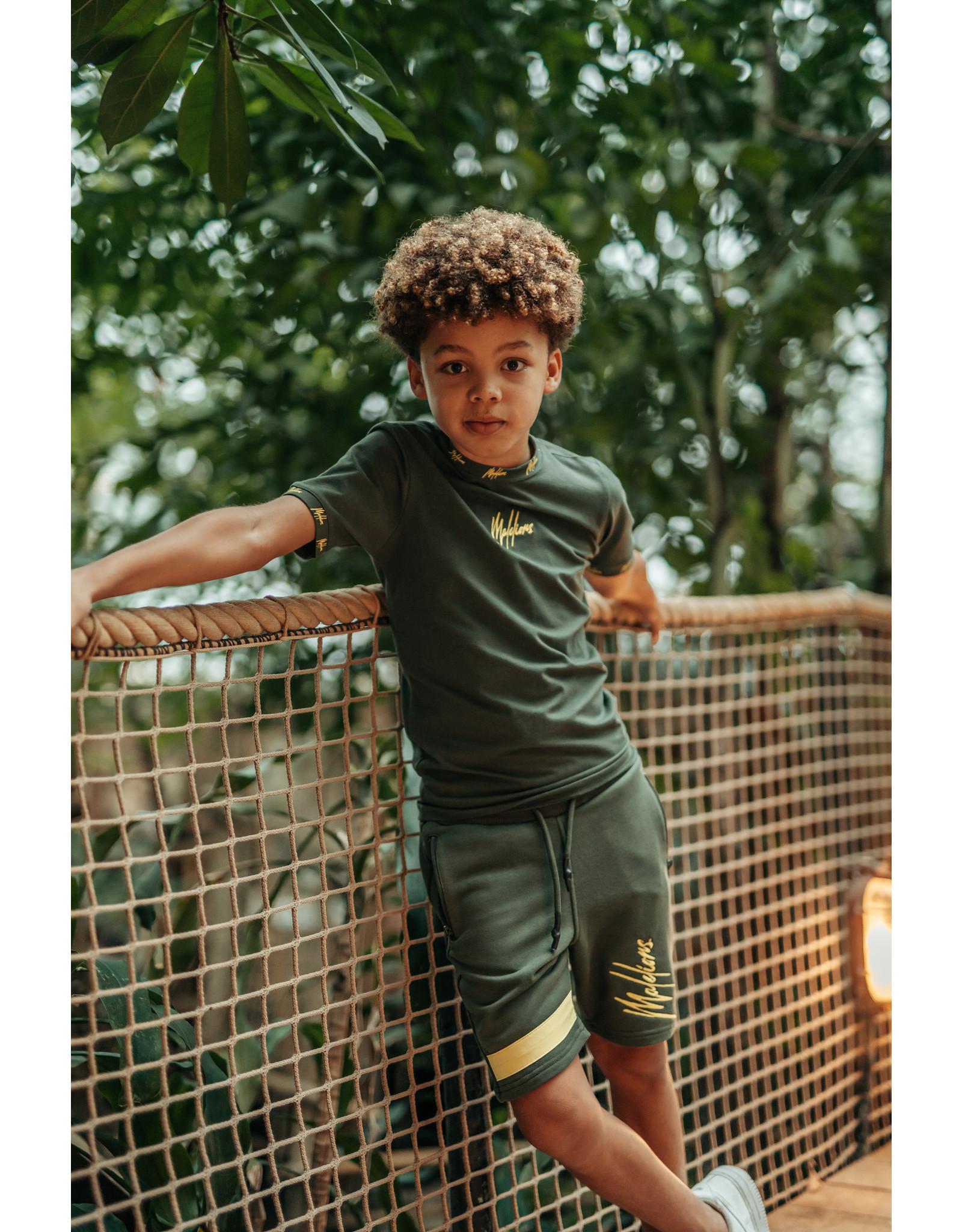 Malelions Junior Trackshort Pablo Army - Yellow