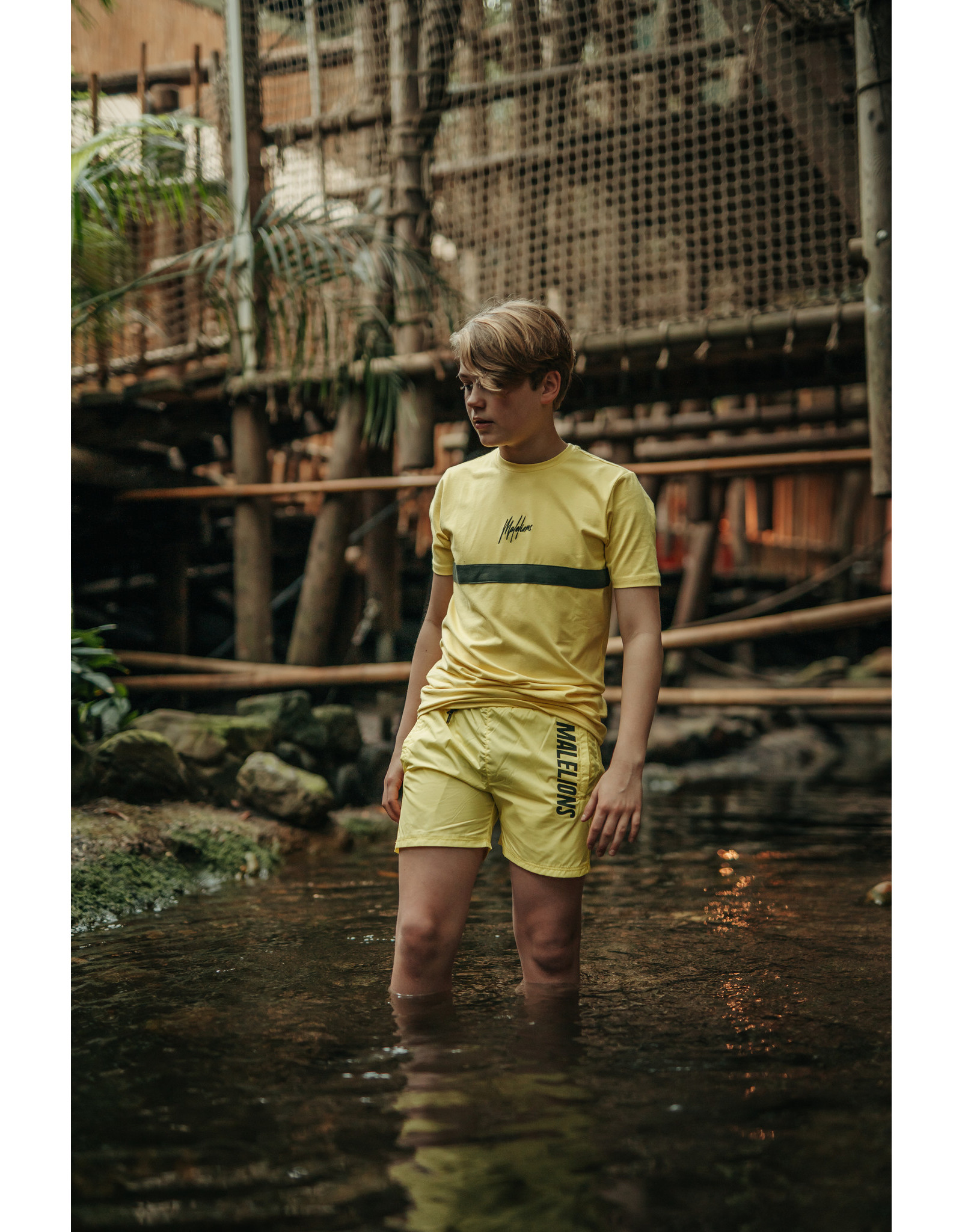 Malelions Junior T-shirt Tonny Yellow - Army