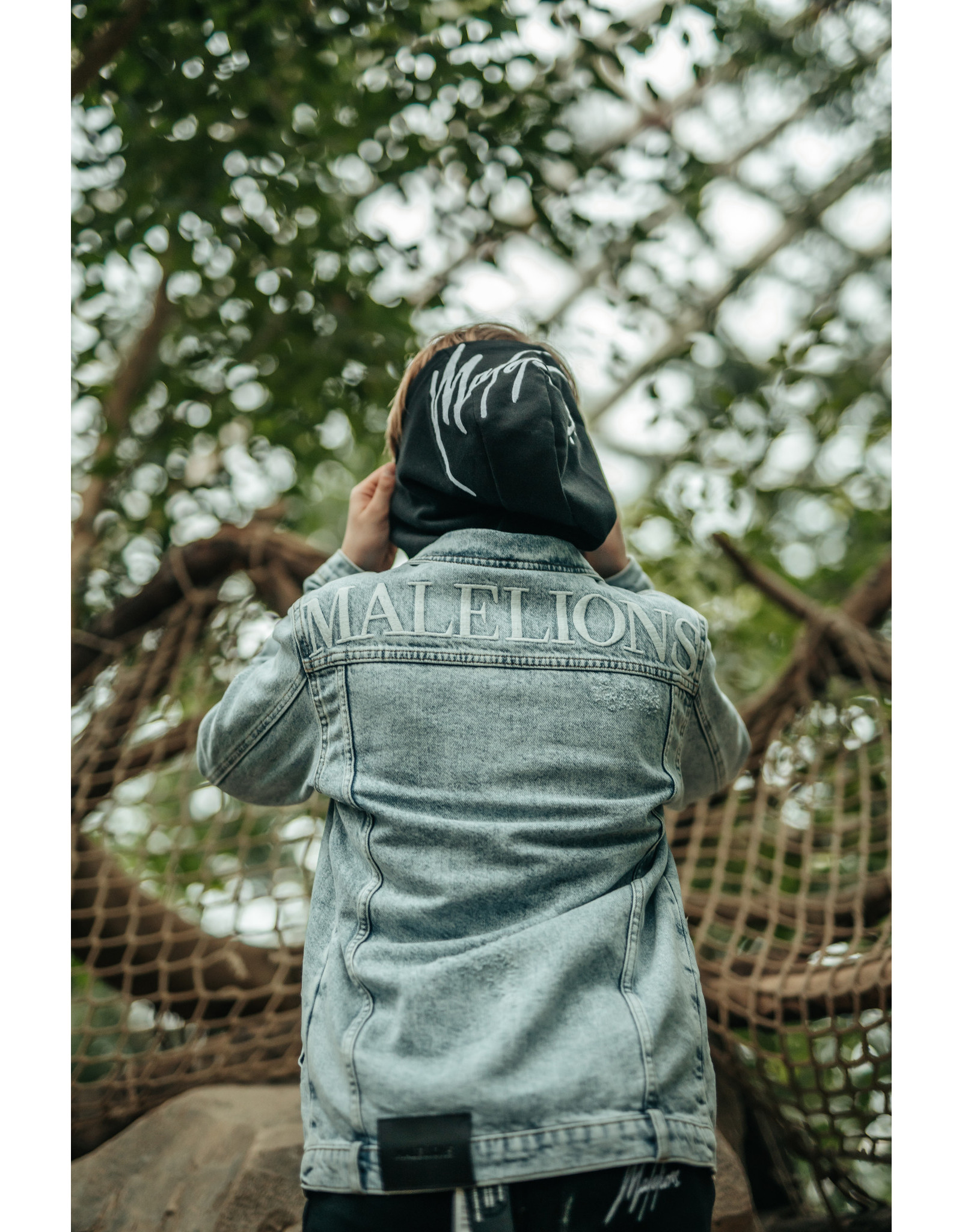 Malelions Junior Denim Jacket Vinegar Light Blue