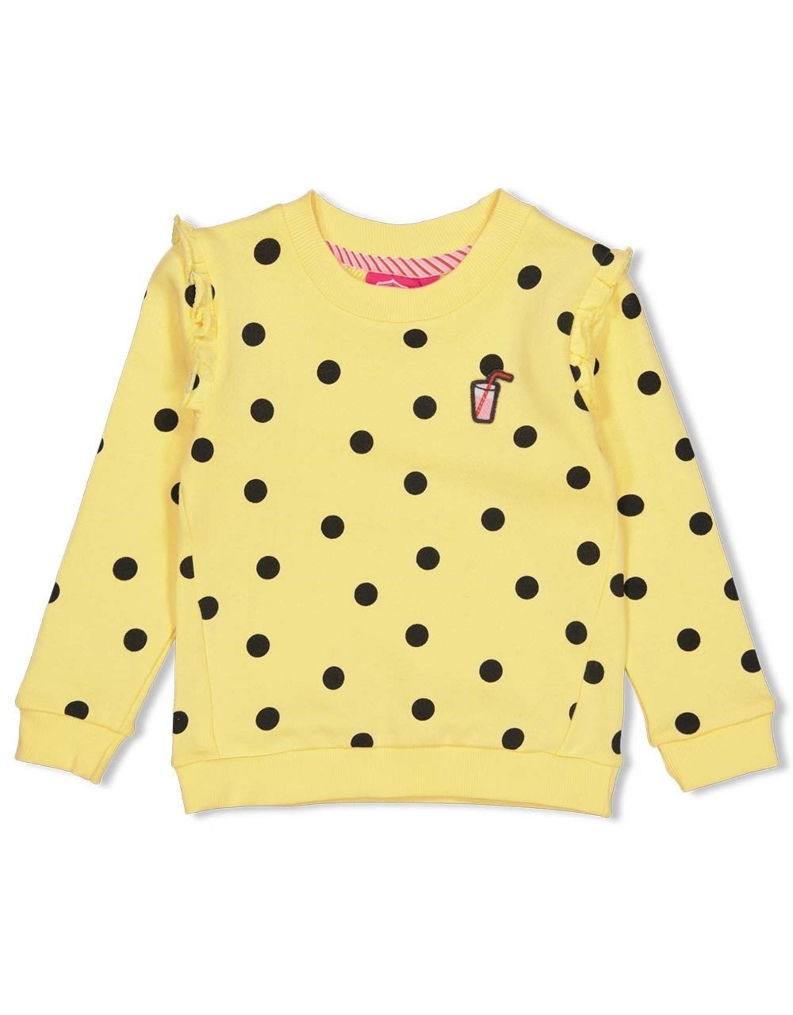Jubel Sweater AOP - Tutti Frutti Geel