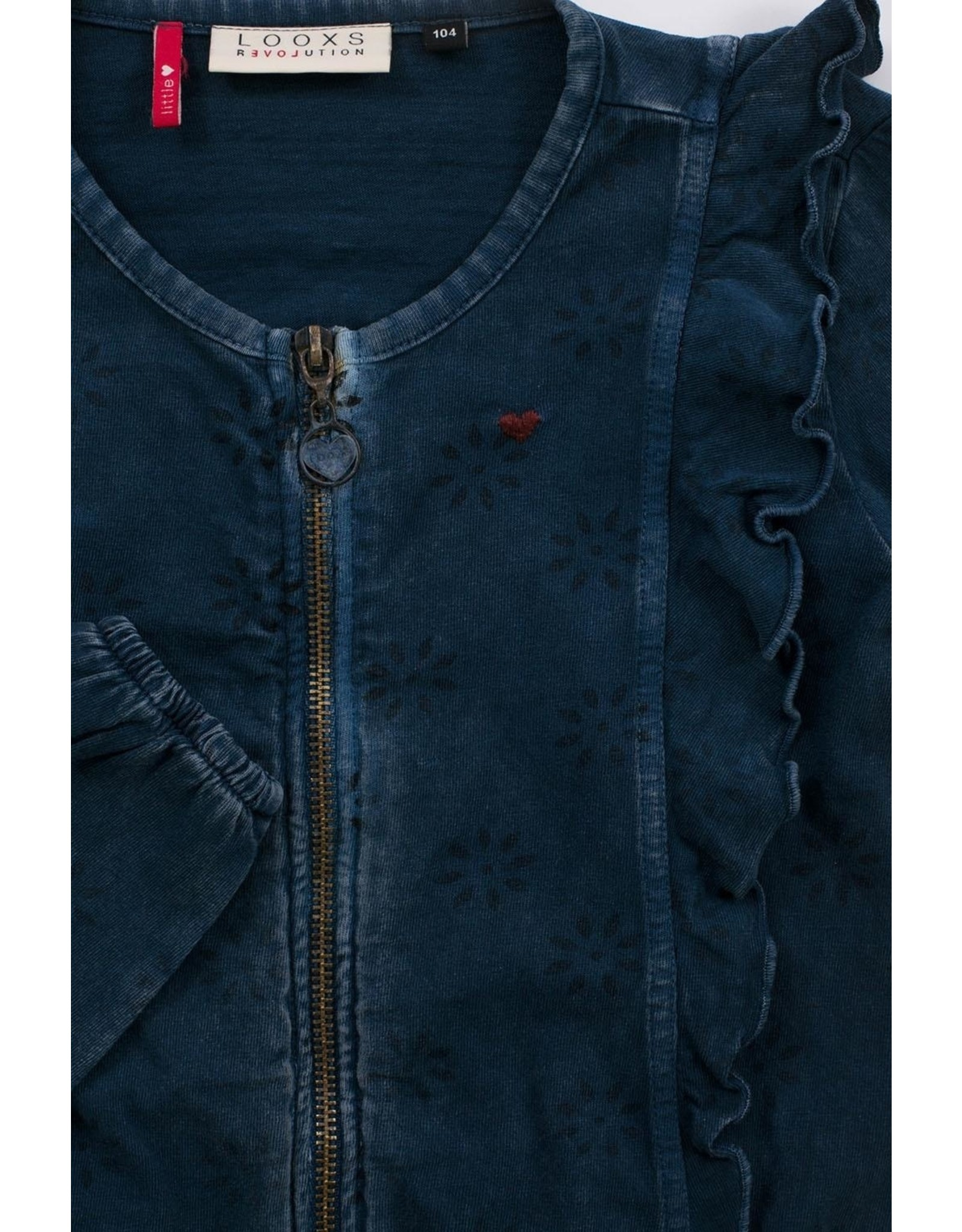 LOOXS Little Little cardigan INDIGO BLUE