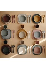 Mushie Plates round Caramel (2 PCS)