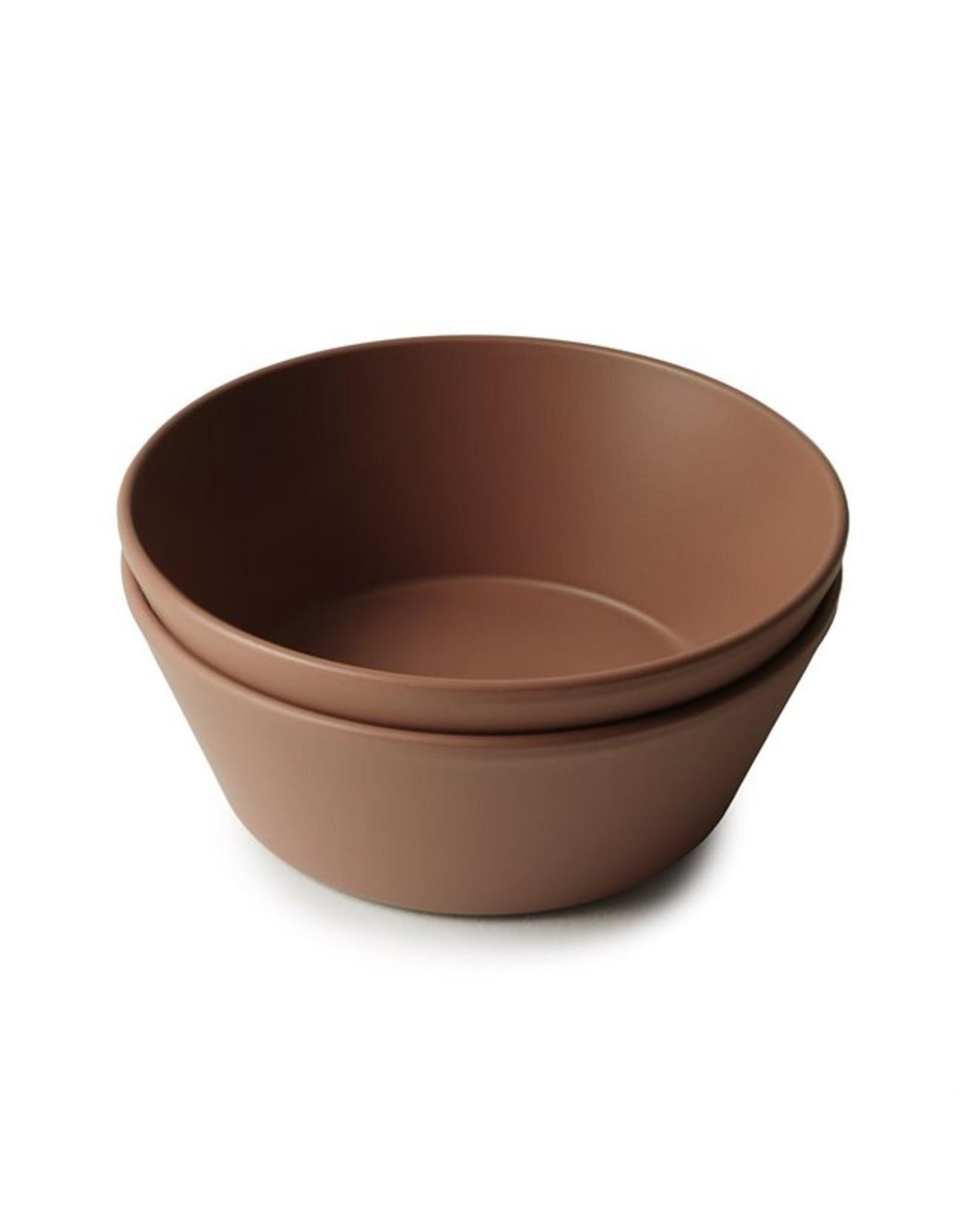 Mushie Bowl round Caramel (2 PCS)