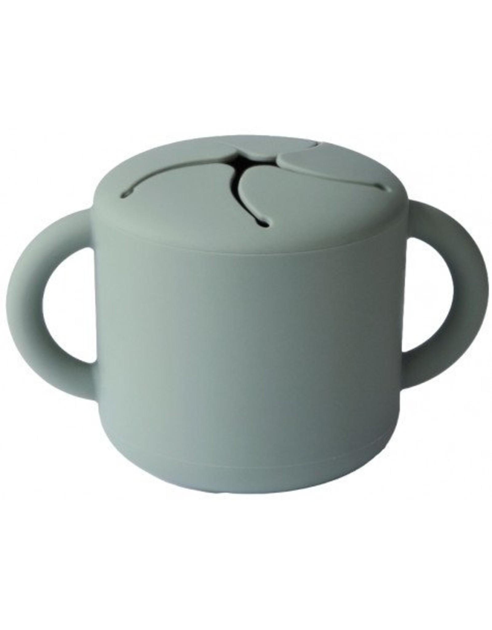 Mushie Cambridge Blue Siliconen Snack Cup