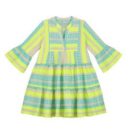 Devotion Short Dress Ella Stars Baby Blue Neon Lime