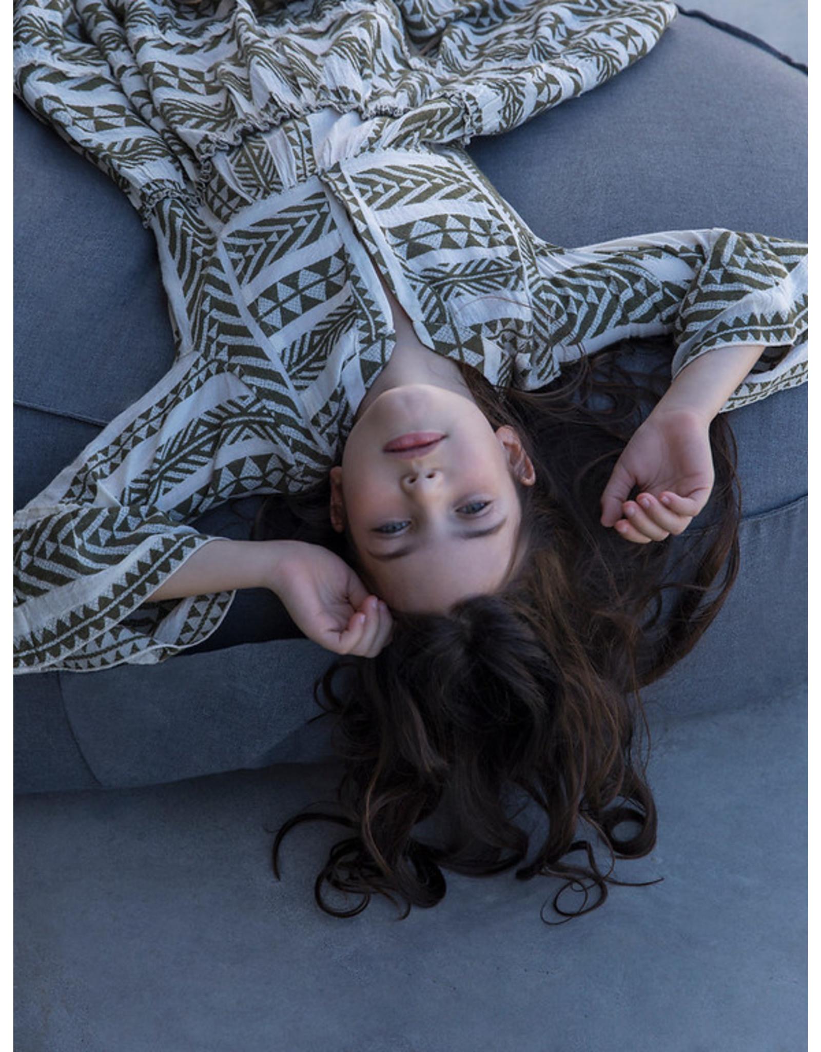 Devotion Short Dress Ella Stars Khaki / Off White