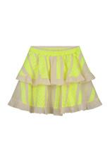 Devotion Skirt Mulan Neon Lime Off White