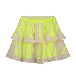 Devotion Skirt Mulan Neon Lime Off White