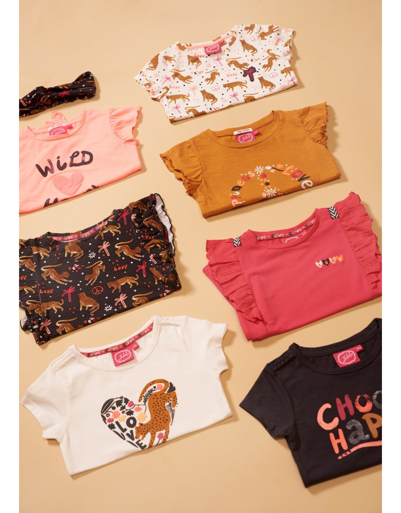 Jubel T-shirt - Whoopsie Daisy Okergeel