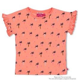 Jubel T-shirt AOP - Whoopsie Daisy Neon Koraal
