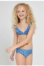 Shiwi girls stardust ruffle triangle bikini patagonia blue