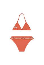Shiwi girls festival ruffle triangle bikini orange new marmelade