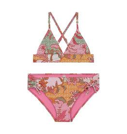 Shiwi girls batik halter triangle bikini multi colour