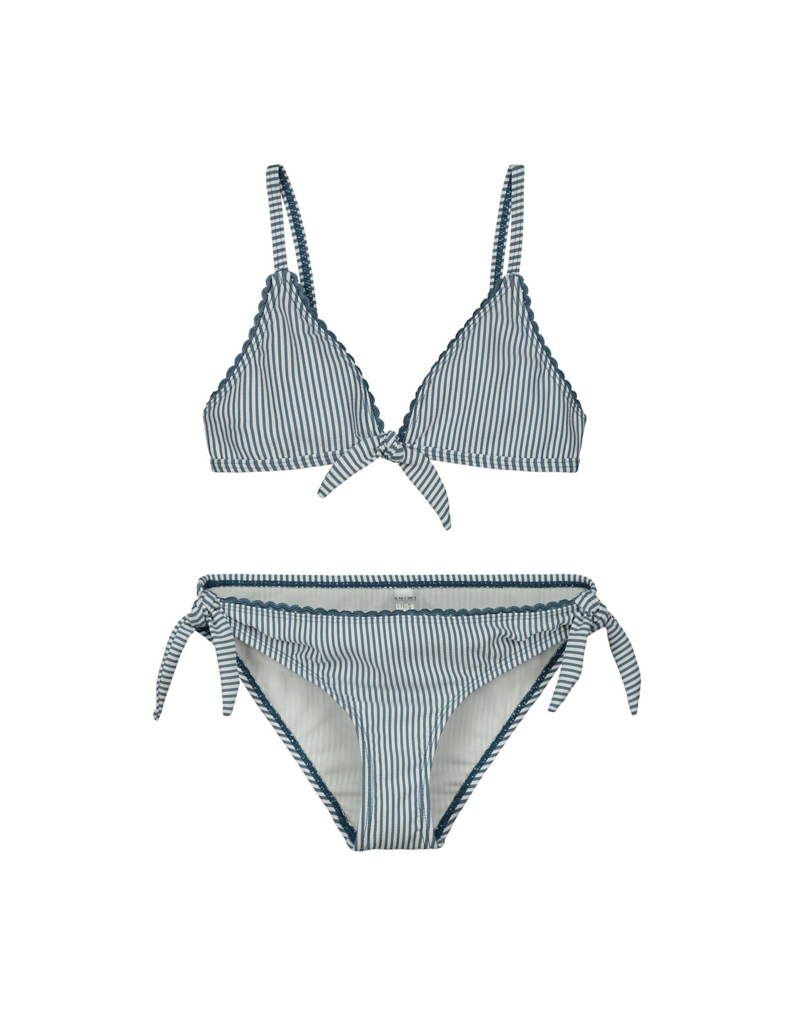 Shiwi girls cote d'azur knotted triangle bikini patagonia blue