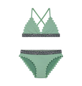 Shiwi girls scallope triangle bikini dusty pistache green