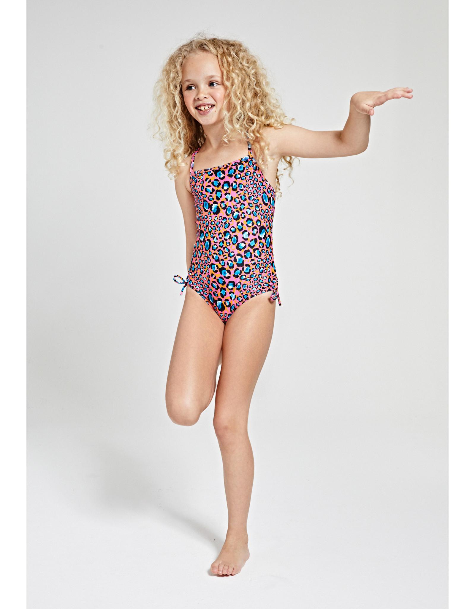 Shiwi girls leopard spot swimsuit strings azalea pink
