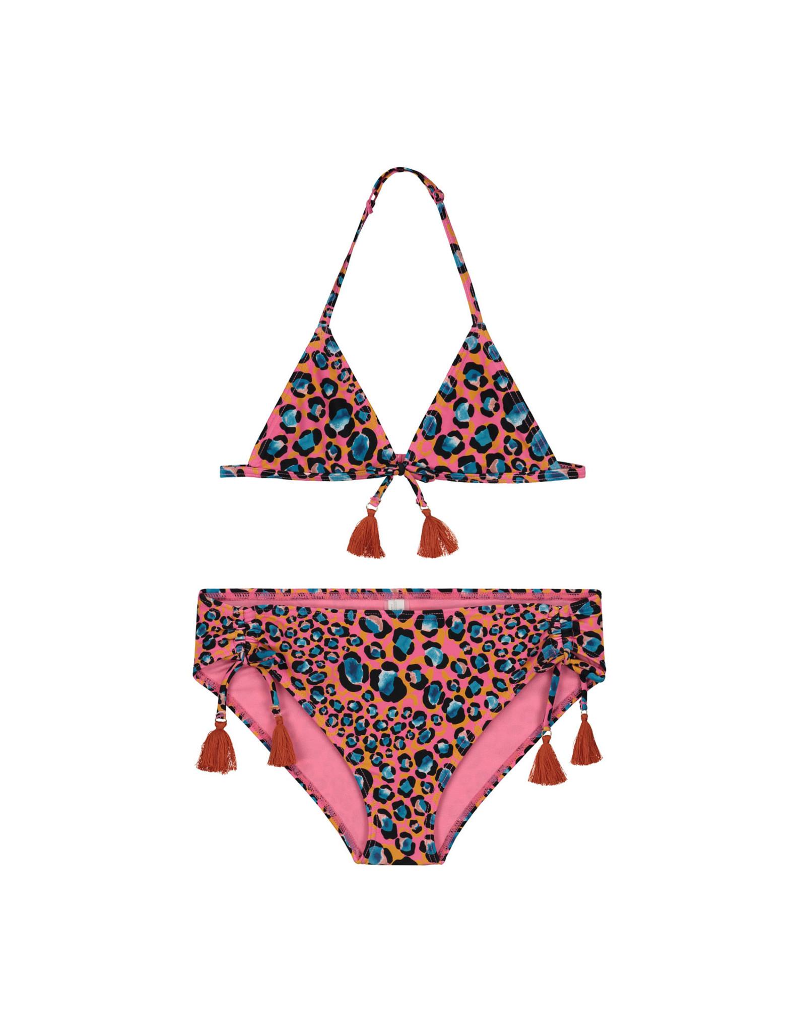 Shiwi girls leopard spot triangle bikini azalea pink