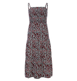 LOOXS 10sixteen Woven printed maxi dress ZEBRA