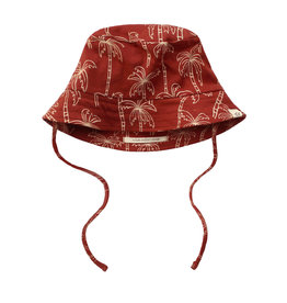 Your Wishes Palmtrees | Summer Hat Dark Rust