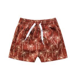 Your Wishes Palmtrees | Swim Shorts Dark Rust
