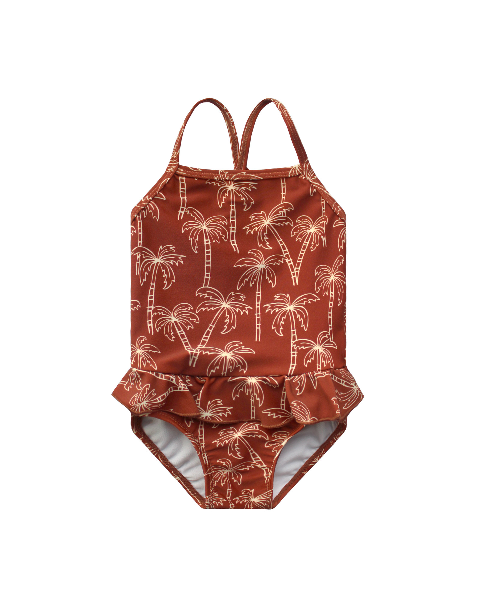 Your Wishes Palmtrees | Swimsuit Dark Rust