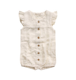 Your Wishes Ivory Mousseline | Ruffle Onesie Ivory