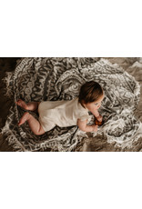 Your Wishes Ivory Mousseline   Ruffle Onesie Ivory