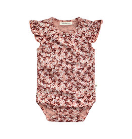 Your Wishes Floral | Ruffle Romper Peach