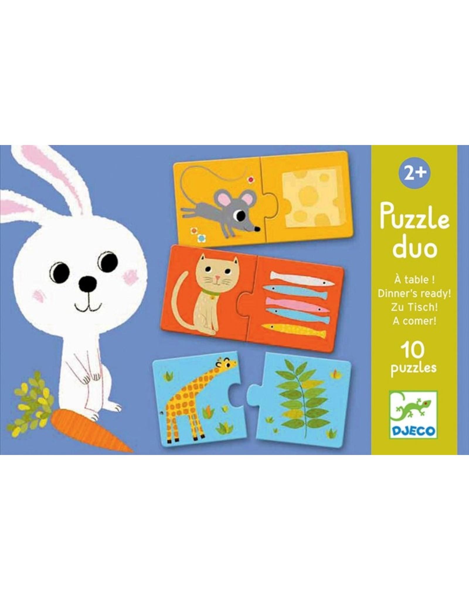 Djeco Duo Puzzels Aan Tafel 10 x 2 stuks