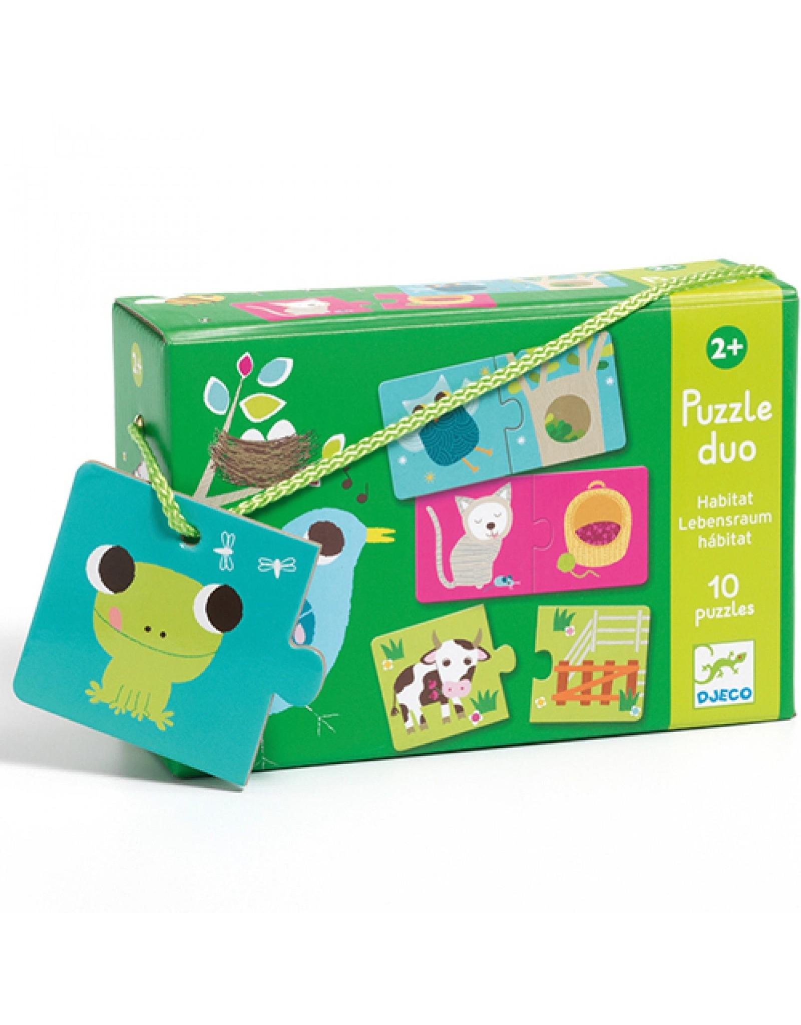 Djeco Duo puzzel Habitat