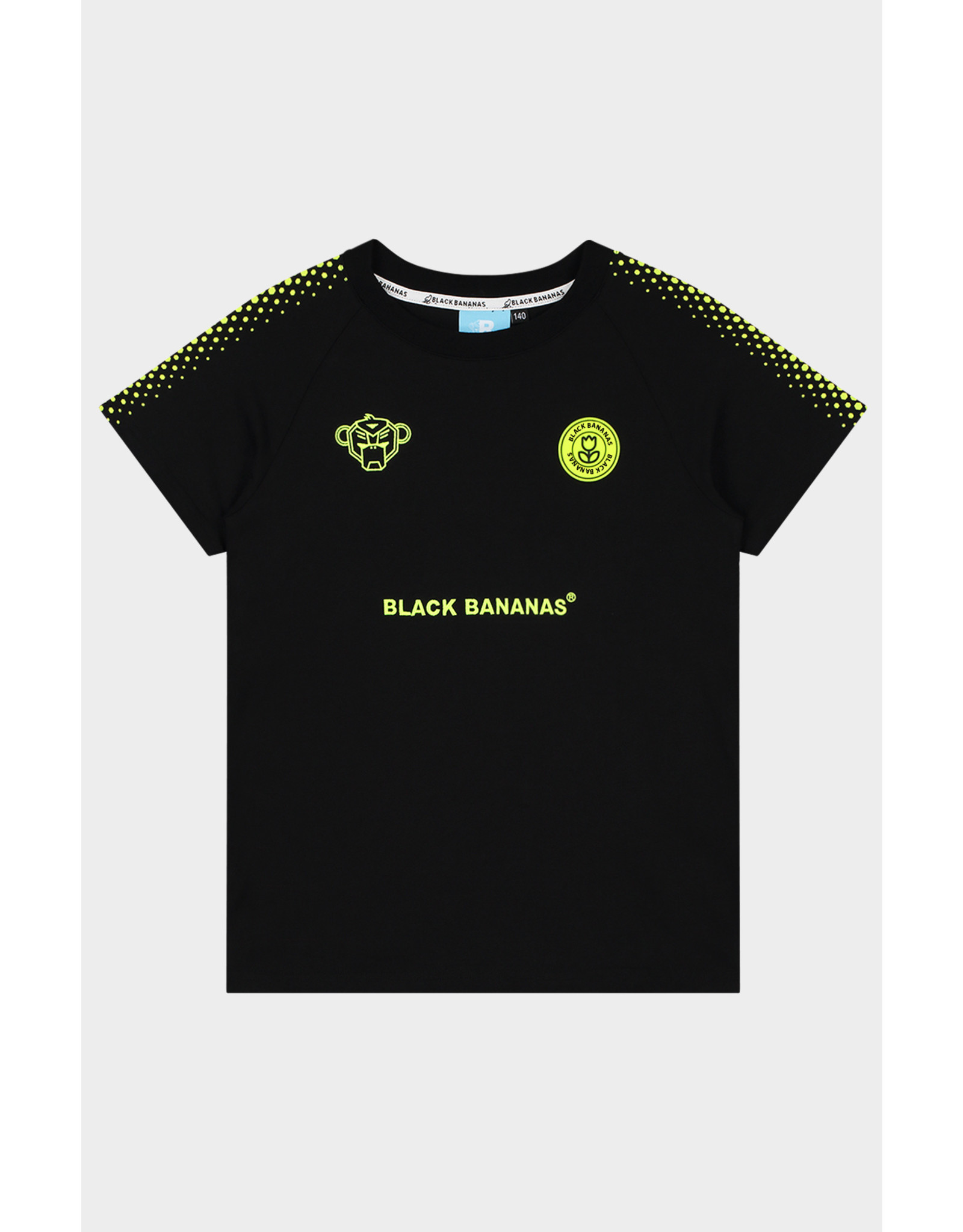Black Bananas Jr. Hexagon Tee Black/neon yellow