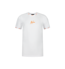 Malelions Junior T-shirt Gini White/Orange