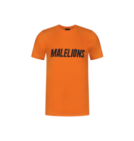 Malelions Junior T-shirt Nium Orange/Black