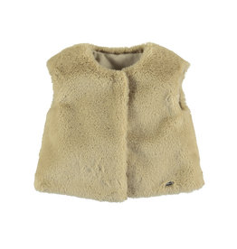 Mayoral Faux fur vest Beige