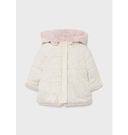Mayoral Reversible fur jacket Bone
