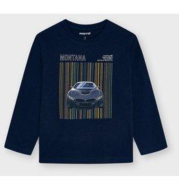 Mayoral L/s silkscreen car shirt Navy