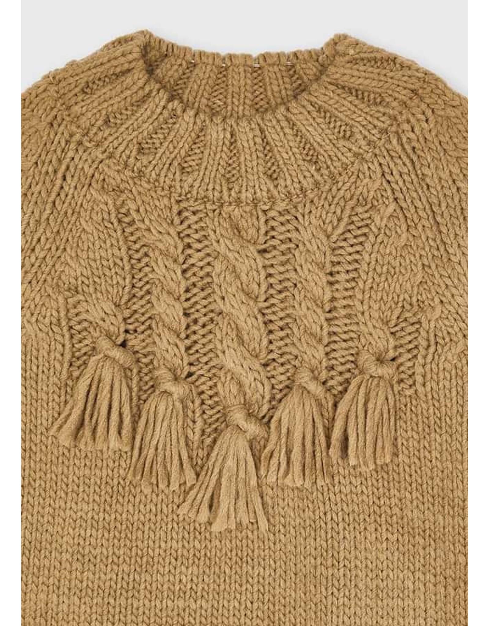 Mayoral Braided sweater Hazelnut