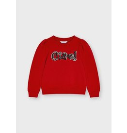 """Mayoral Sequin """"ciao"""" pullover Red"""