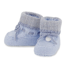 Mayoral Knit booties Sky