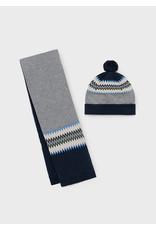 Mayoral Jacquard scarf-hat set Storm